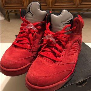 bdc816ee3990 Jordan red suede 5